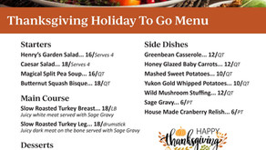 Thanksgiving Family Style To Go | Henry's 2021