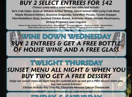 Ke'e Grill Daily CURBSIDE DEALS! | Boca Raton Restaurant Deal