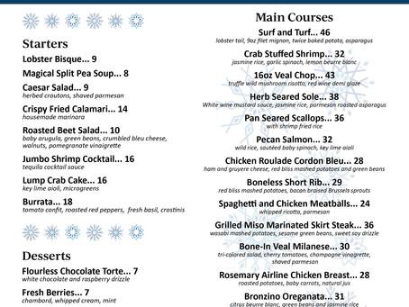 Holiday Menu | Delray Beach Restaurant 2020