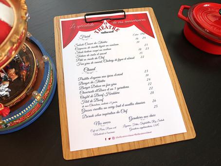 Au restaurant Le Théâtre à Colmar, la nouvelle carte vient d'arriver !
