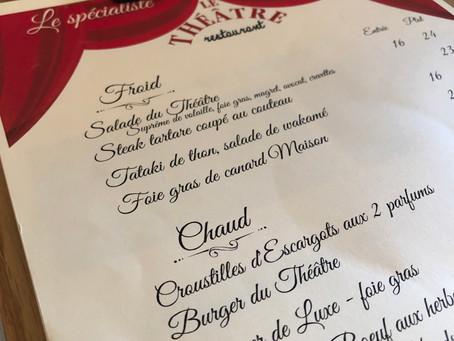Nouvelle carte au Restaurant le Théâtre Colmar