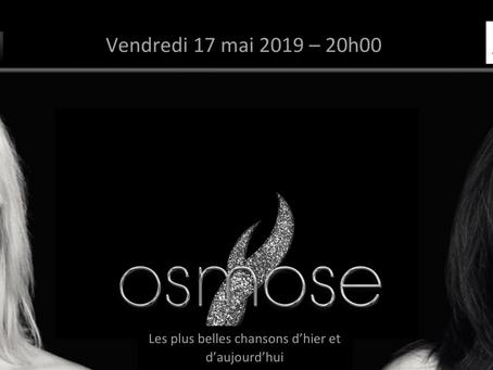 [CONCERT] Le duo Osmose sera en concert le 17 mai au Restaurant Le Théâtre à Colmar