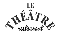 Logo en noir et blanc du restaurant Le Théâtre à Colmar.