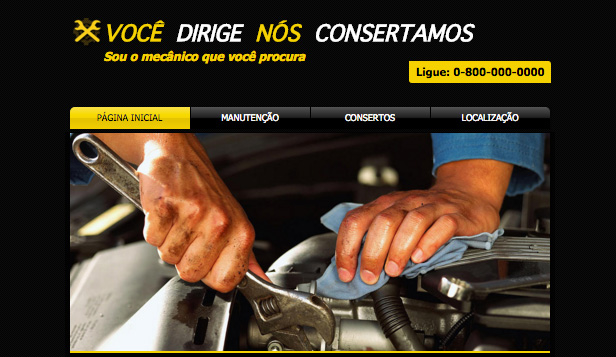 Automotivos website templates – Conserto de Carros