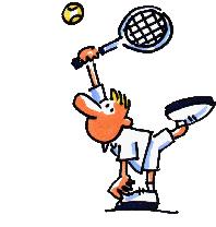"""""""Deutschland"""" spielt Tennis..."""