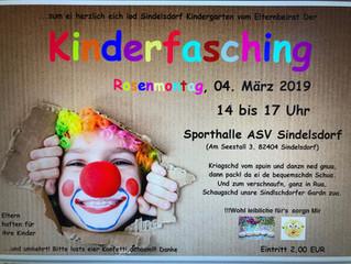 Kinderfasching beim ASV Sindelsdorf