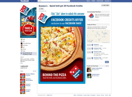 FB Page Design for Dominos