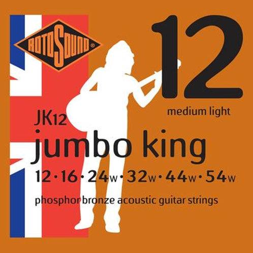 Rotosound JK12 Jumbo King Acoustic Guitar Strings 12-54