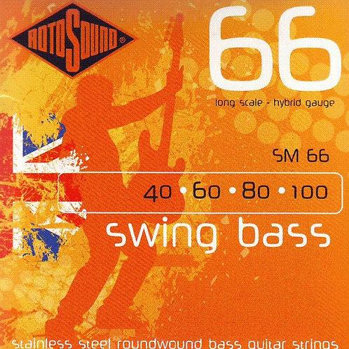 Rotosound SM66 Swing Bass 66 Hybrid Bass Guitar Stings (40-100)