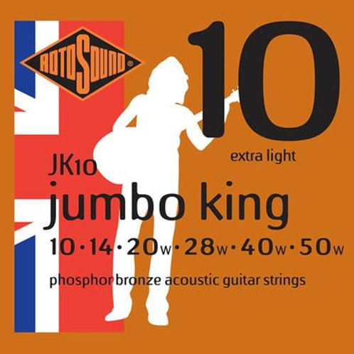 Rotosound JK10 Jumbo King Acoustic Guitar Strings 10-50