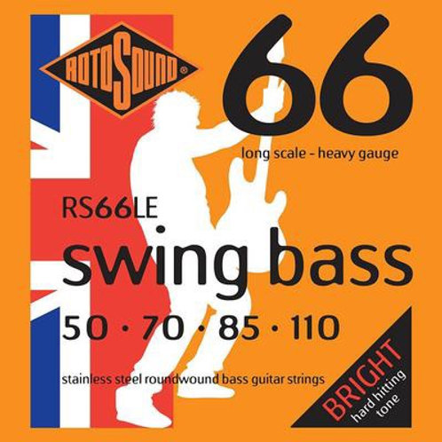 RS66LE Swing Bass Stainless Steel Roundwound Bass Guitar Strings 50-110 Long Sca