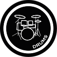Musication Drums - white on black.png