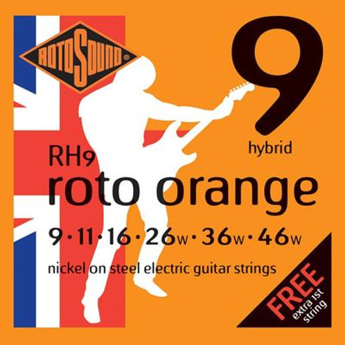 Rotosound RH9 Roto Orange Hybrid Electric Guitar Strings 09-46