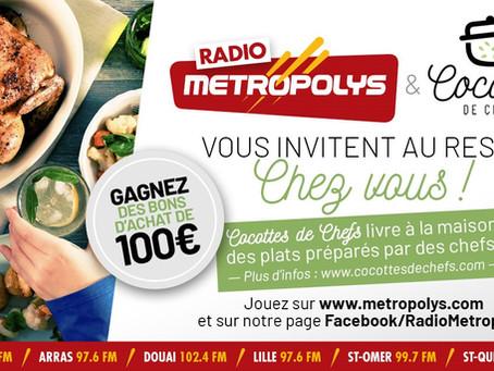 Gagnez 100€ avec Métropolys & Cocottes de Chefs