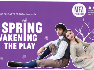 Working with the MFA students on Spring Awakening: The Play