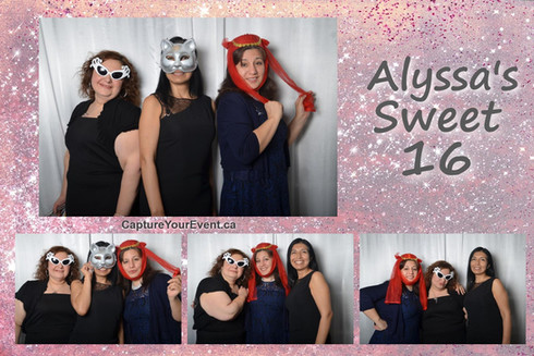 Photobooth Montreal Service Sweet 16