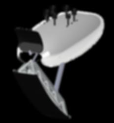Suborbital Platform with Rocket Deployed