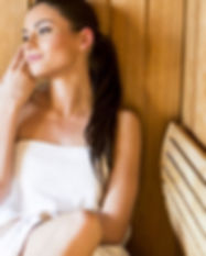 Woman in infrared Sauna