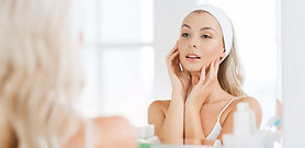 beauty, skin care and people concept - s