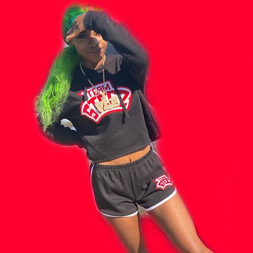 Teamsteez women hoodie crop tops