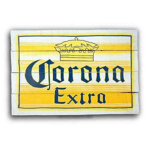 Vintage Corona Sign - Yellow