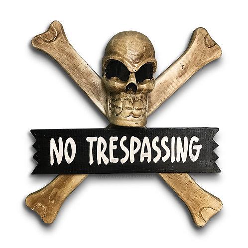 No trespassing - Skull