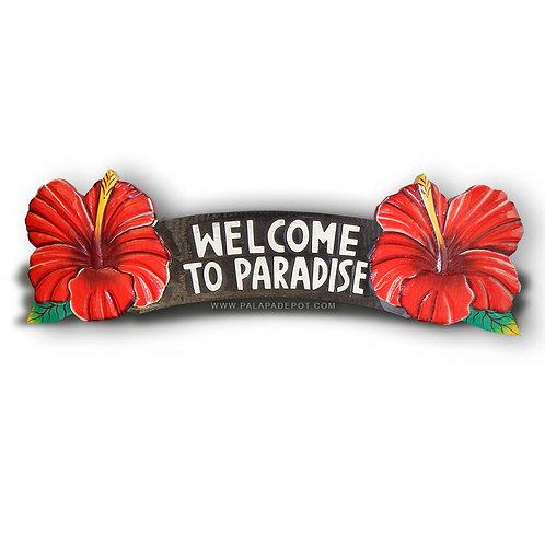Tiki Sign Welcome to Paradaise