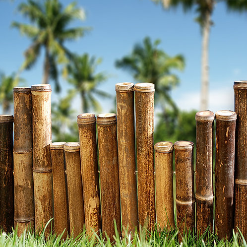 Bamboo border edging - Chocolate- 1.25' x 16'
