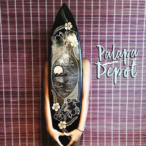 Lacquered Surfboard