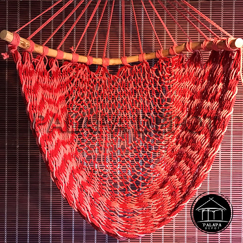 HANDWOVEN CHAIR HAMMOCK - RED