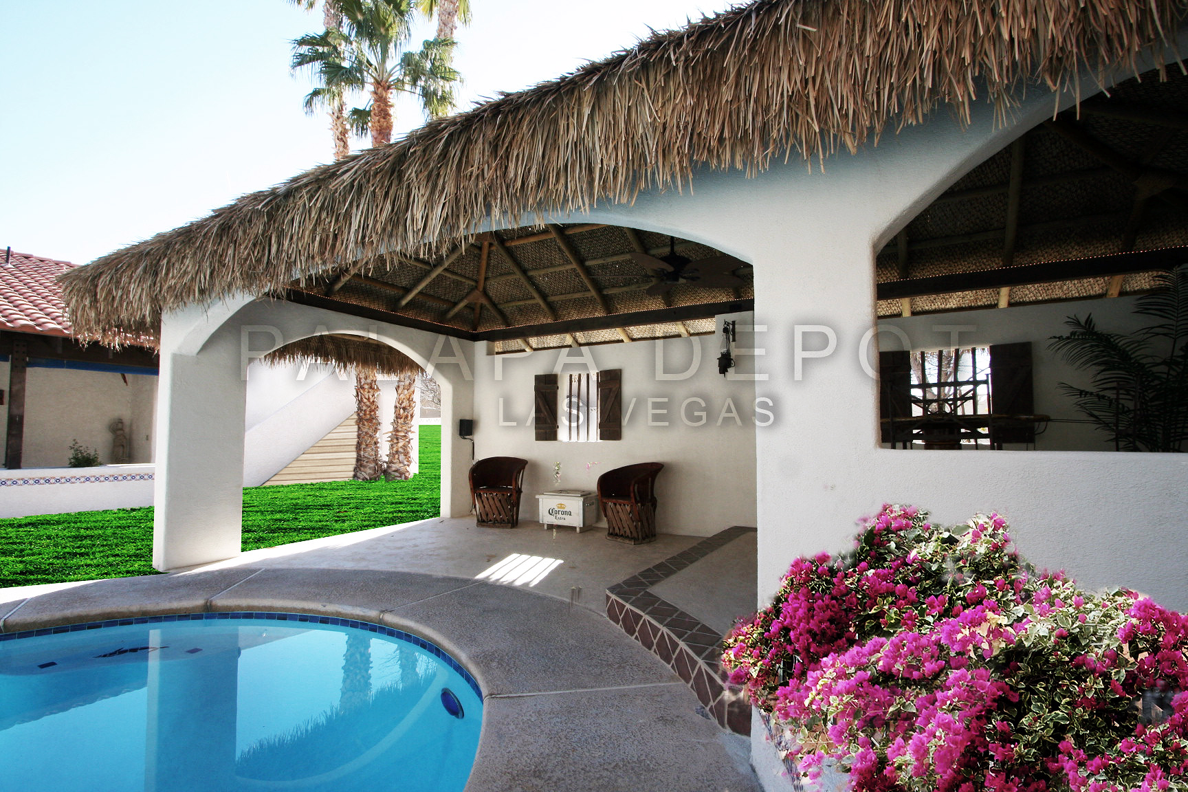 Custom palapa roofing