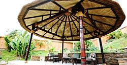 Modern palapa hut