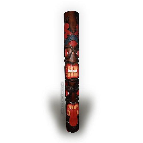 "60"" Tiki mask - Tahitian Design Double Face"