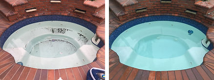 Before and after weekly spa cleaning by Nick Young Pools
