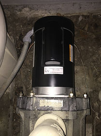 Pool pump motor after replacement
