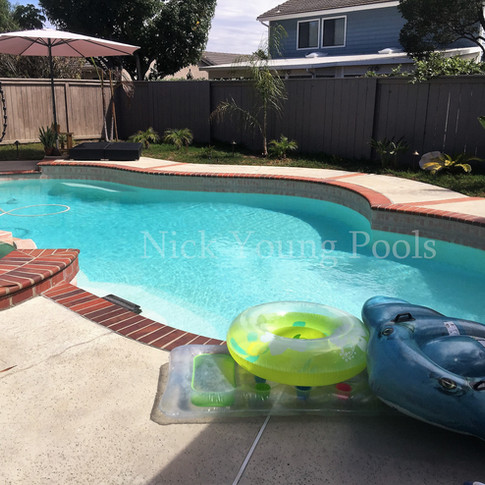 Pool and spa with floats