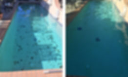 Before and after weekly pool cleaning by Nick Young Pools