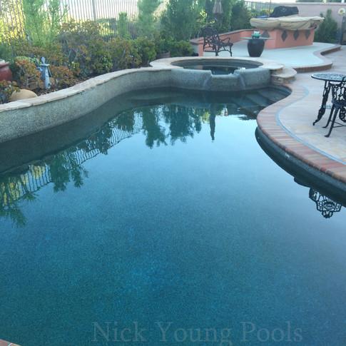 Pebbletech pool and spa