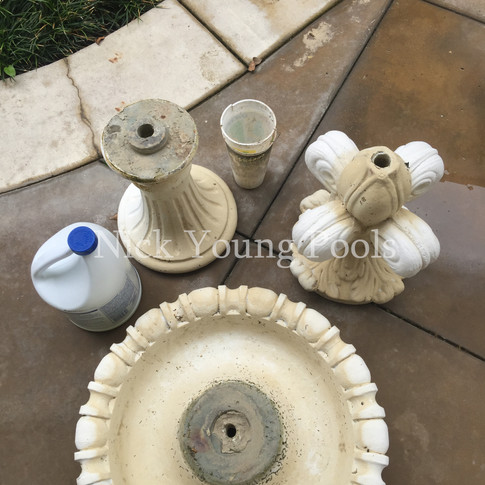 Tiered fountain parts