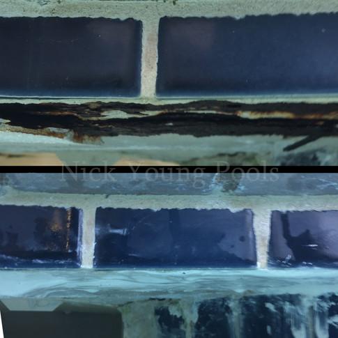 Rusted skimmer repair