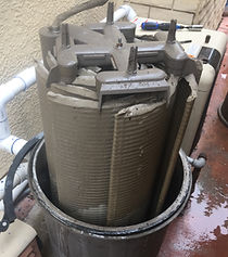 Dirty Hayward 60 SqFt filter before filter cleaning