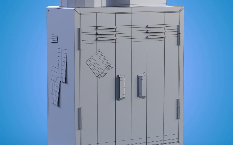 locker wireframe