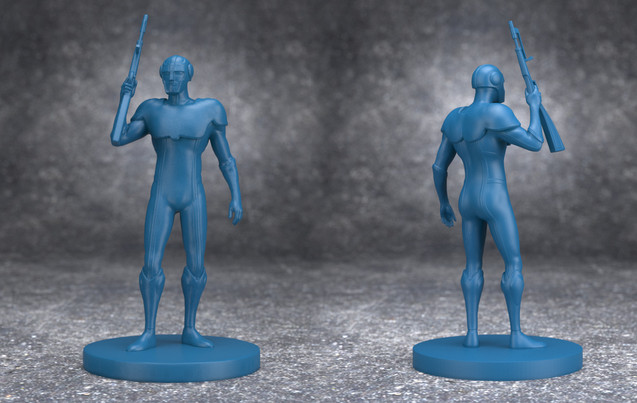 Meganoide figurine