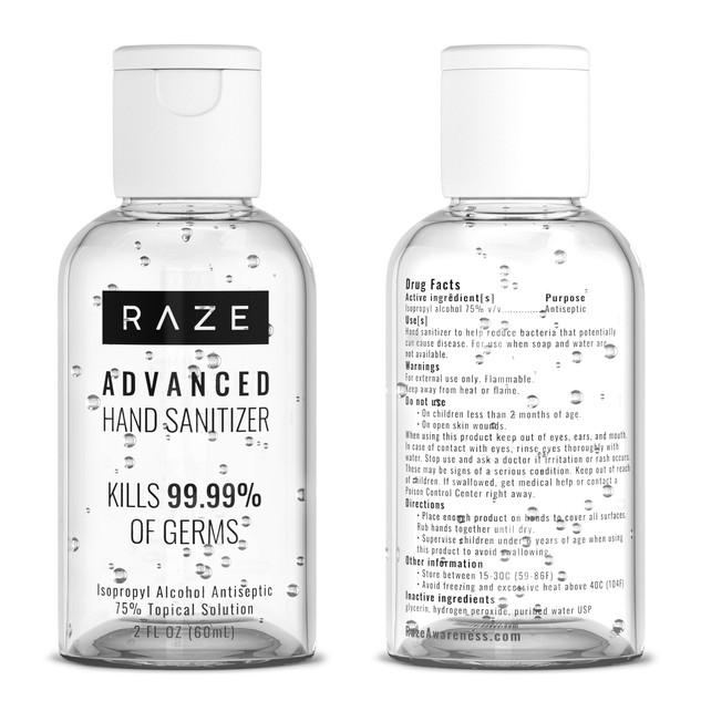 Raze Hand sanitizer