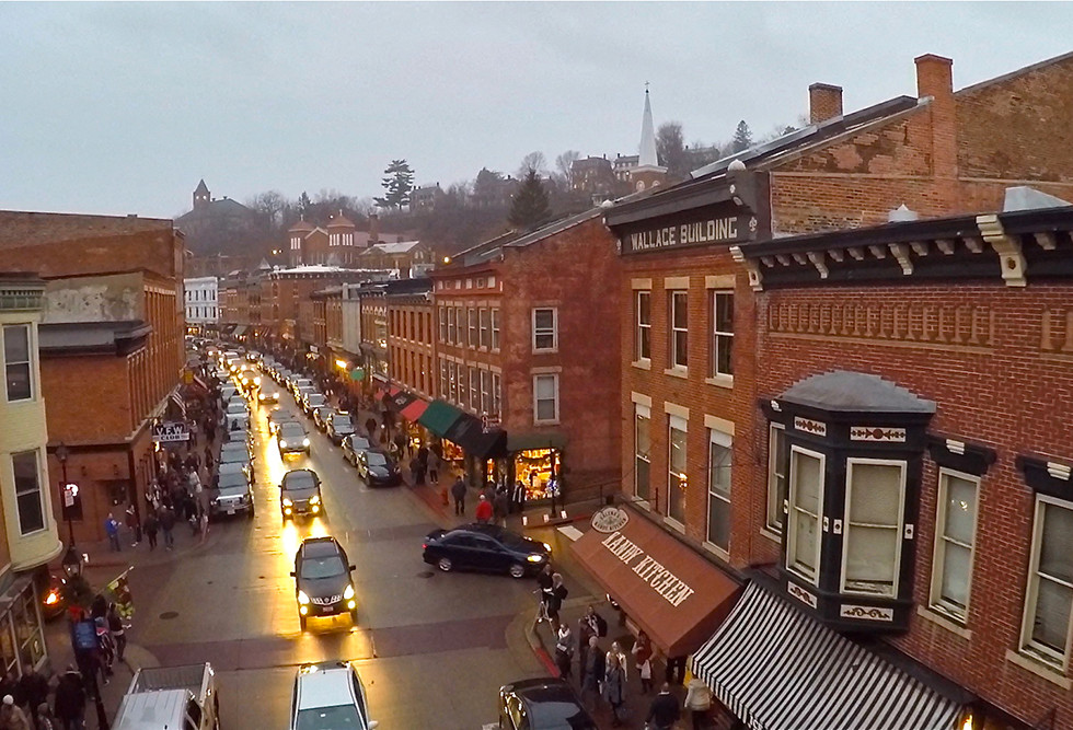 Bird's-eye view of Galena Main Street
