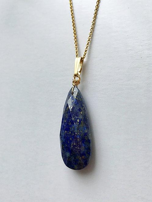 Lapis long necklace