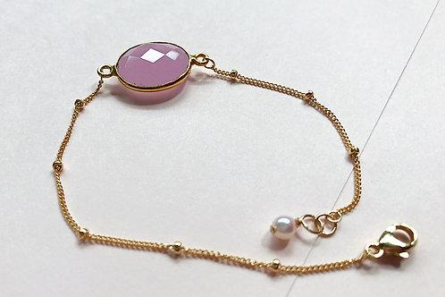 Pink Opal & Baby Pearl bracelet