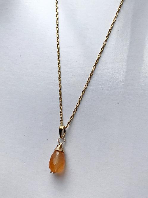 Carnelian necklace (light color)