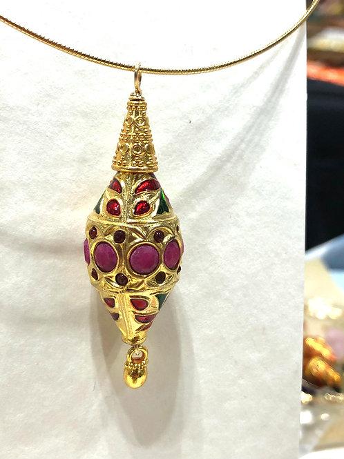 Afghanistan beads (Ruby)