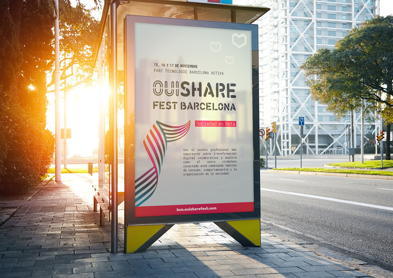 OSFESTRealistic Poster Display Mockup Fr